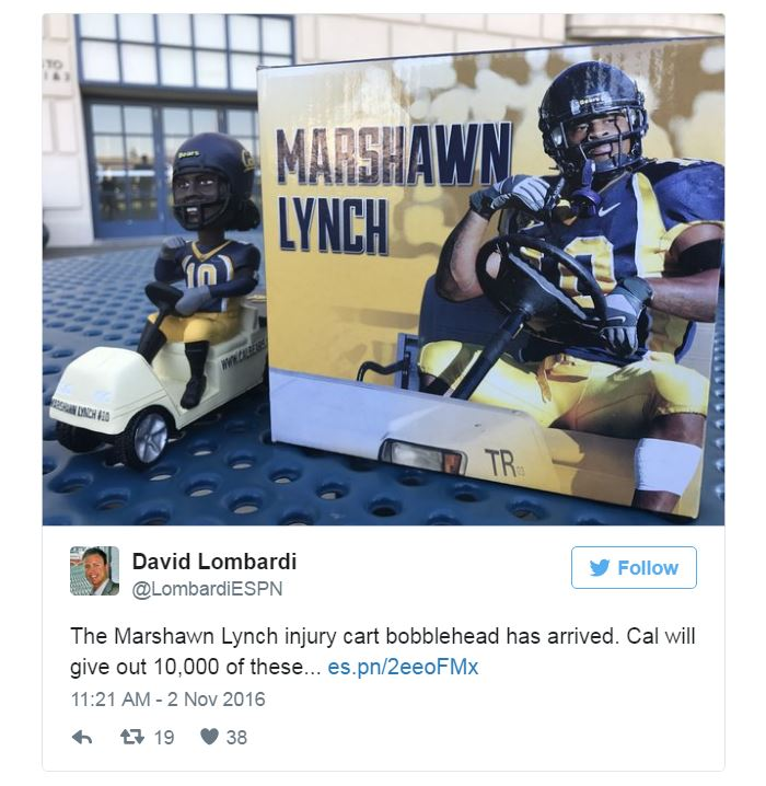 Marshawn Lynch bobblehead giveaway