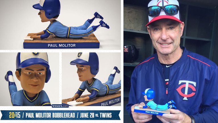 MLB Milwaukee Brewers Molitor bobblehead photo