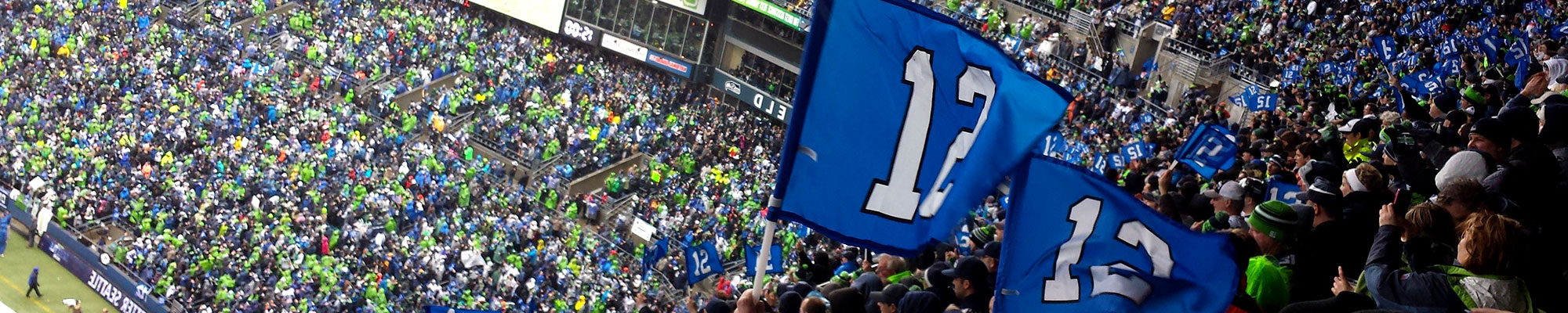 Seahawks fans wave 12 flags by BDA